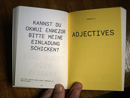 <p>Es geht auch um Adjektive<br /> Its about adjectives as well</p>